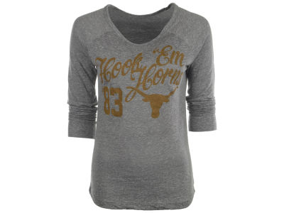 Texas Longhorns NCAA Womens Knobi Flow Long Sleeve T-Shirt
