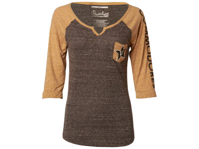 Vanderbilt Commodores NCAA Women's Deja 3/4 Raglan T-Shirt
