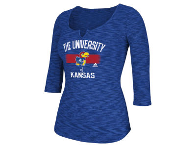 Kansas Jayhawks adidas NCAA Women's University Scoop 3/4 Sleeve Shirt