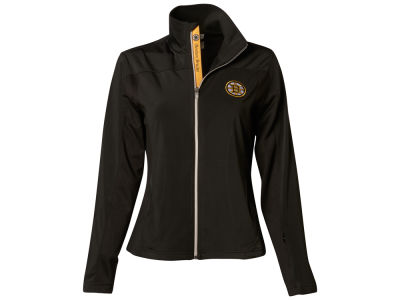 Boston Bruins NHL Women's Aurora Script Full Zip Pullover Shirt