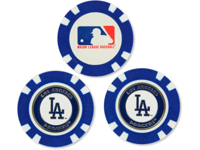 Los Angeles Dodgers Golf Poker Chip Markers 3 Pack