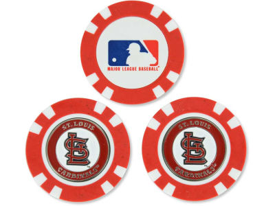 St. Louis Cardinals Golf Poker Chip Markers 3 Pack