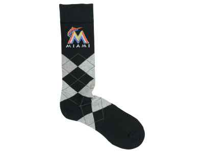 Miami Marlins For Bare Feet Argyle Dress Sock