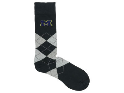 Michigan Wolverines For Bare Feet Argyle Dress Sock