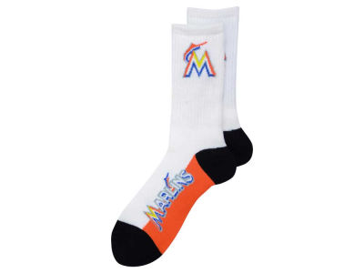Miami Marlins For Bare Feet Crew White 506 Sock