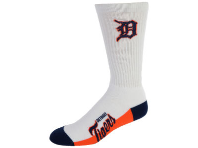 Detroit Tigers For Bare Feet Crew White 506 Sock