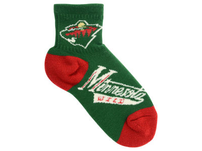 Minnesota Wild For Bare Feet Youth 501 Socks