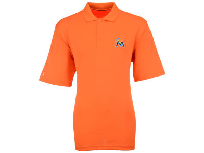 Miami Marlins MLB Men's Pique Extra Lite Polo Shirt