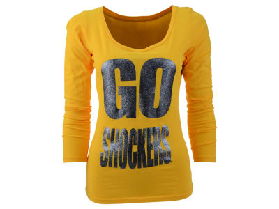 Wichita State Shockers Blue 84 NCAA Womens Flicker Long Sleeve T-Shirt