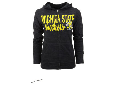 Wichita State Shockers Blue 84 NCAA Womens Binocular Full Zip Hoodie