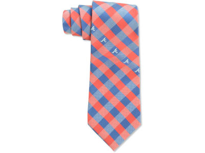 Atlanta Braves Polyester Checked Tie