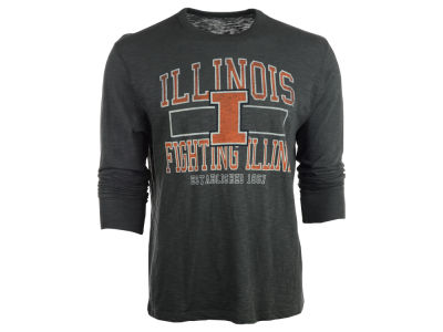 Illinois Fighting Illini NCAA Stacked Long Sleeve Scrum T-Shirt