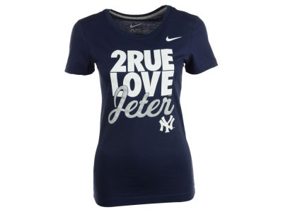 New York Yankees Derek Jeter Nike MLB Women's V Jeter 2rue Love T-Shirt