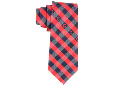 Cleveland Indians Polyester Checked Tie