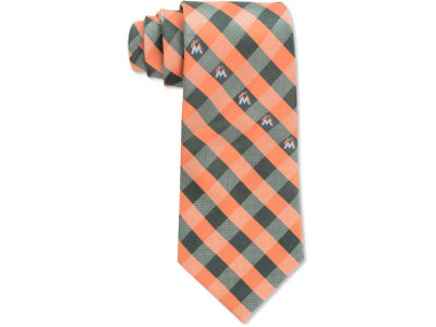 Miami Marlins Polyester Checked Tie