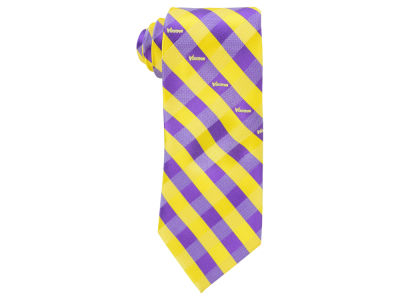 Minnesota Vikings Polyester Checked Tie