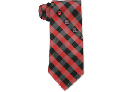 Rutgers Scarlet Knights Polyester Checked Tie