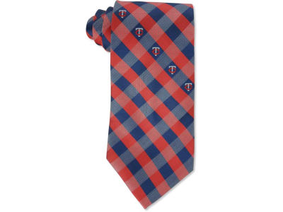Minnesota Twins Polyester Checked Tie