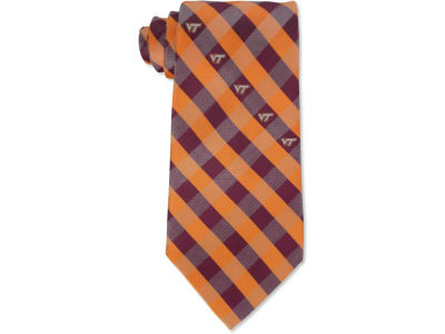 Virginia Tech Hokies Polyester Checked Tie