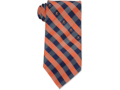 Virginia Cavaliers Polyester Checked Tie