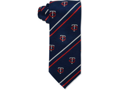 Minnesota Twins Necktie Cambridge Stripe Woven Silk