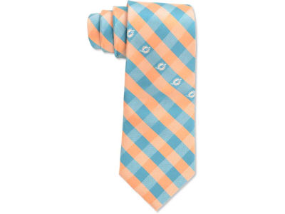 Miami Dolphins Polyester Checked Tie