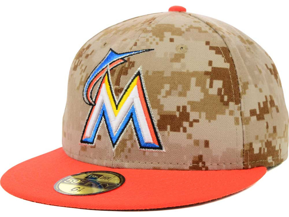 competitive price 8ccbe 8cdc2 ... coupon for miami marlins new era 2014 mlb ac memorial stars stripes 59fifty  cap 46c43 bfad0