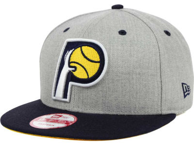 Indiana Pacers New Era NBA Hardwood Classics Heather Gray 9FIFTY Snapback Cap