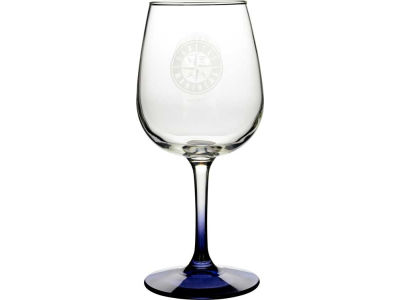Seattle Mariners Satin Etch Wine Glass