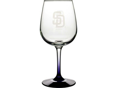 San Diego Padres Satin Etch Wine Glass