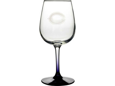 Chicago Bears Satin Etch Wine Glass