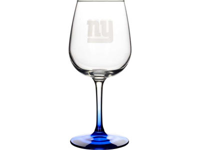 New York Giants Satin Etch Wine Glass