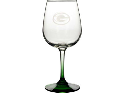 Green Bay Packers Satin Etch Wine Glass
