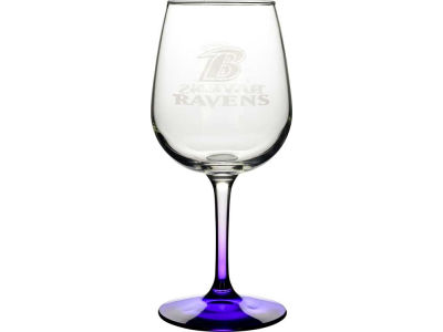 Baltimore Ravens Satin Etch Wine Glass