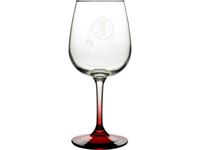 Washington Redskins Satin Etch Wine Glass