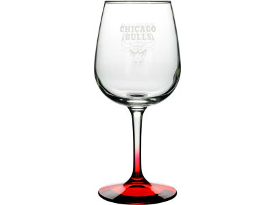 Chicago Bulls Satin Etch Wine Glass