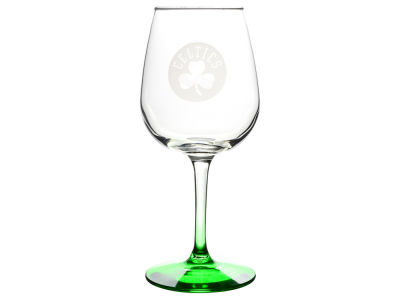 Boston Celtics Satin Etch Wine Glass