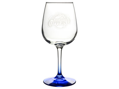 Los Angeles Clippers Satin Etch Wine Glass