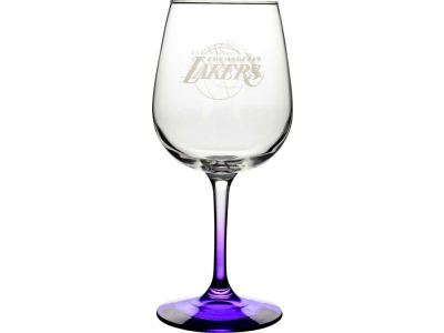 Los Angeles Lakers Satin Etch Wine Glass