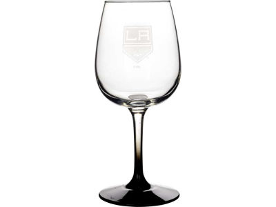 Los Angeles Kings Satin Etch Wine Glass