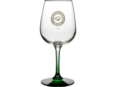 Minnesota Wild Satin Etch Wine Glass