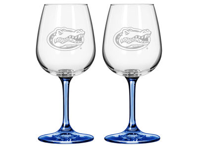 Florida Gators Satin Etch Wine Glass