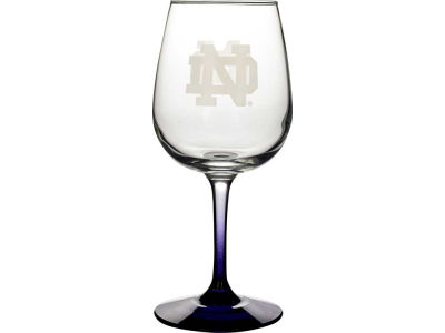 Notre Dame Fighting Irish Satin Etch Wine Glass