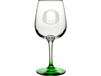 Oregon Ducks Satin Etch Wine Glass
