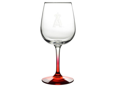 Los Angeles Angels Satin Etch Wine Glass