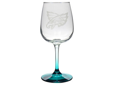 Philadelphia Eagles Satin Etch Wine Glass