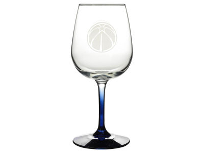 Washington Wizards Satin Etch Wine Glass