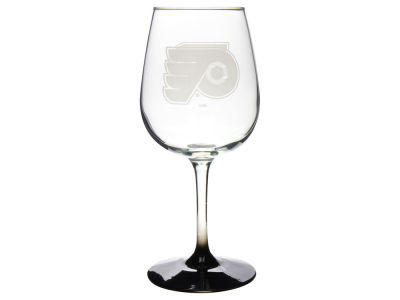 Philadelphia Flyers Satin Etch Wine Glass