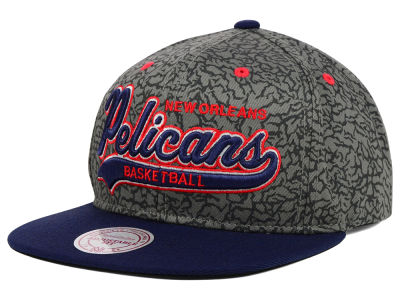 New Orleans Pelicans Mitchell and Ness NBA E-Print Tailsweep Snapback Cap