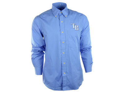 Tampa Bay Rays MLB Men's Achieve Button Up Collar Woven Shirt